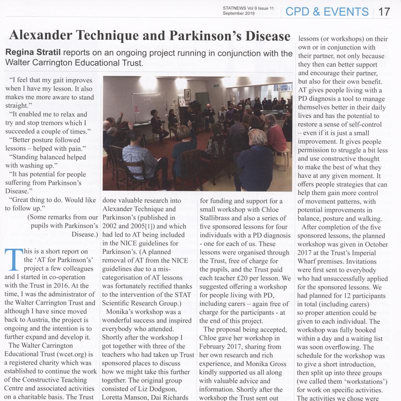 Alexander-Technik und Parkinson